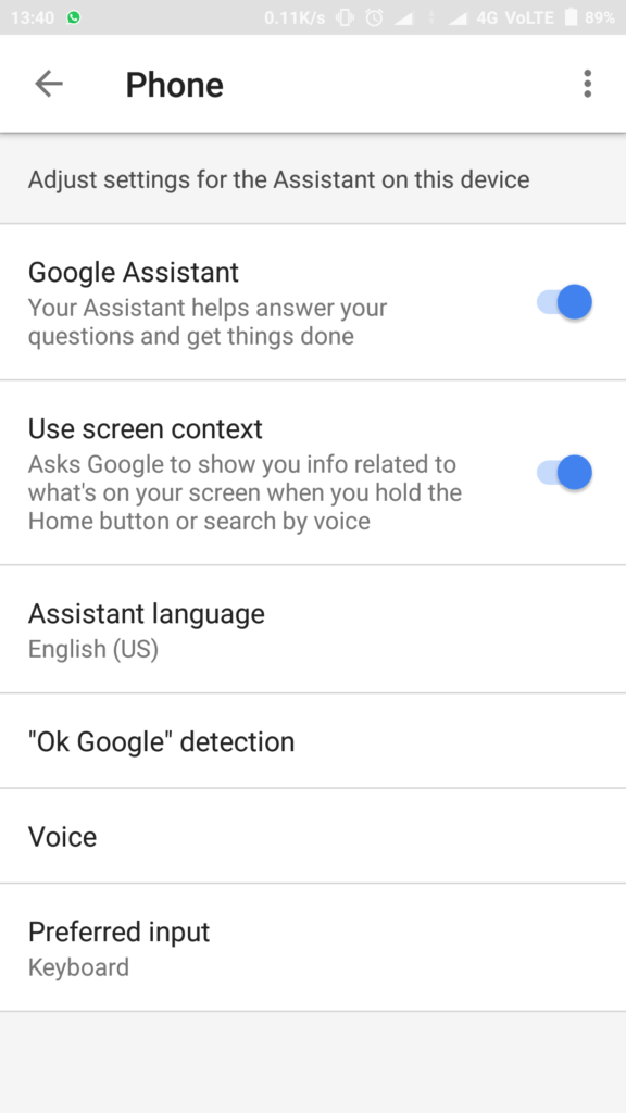 How To Change the Input method in Google Assistant
