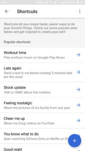 Google Assistant Shortcuts