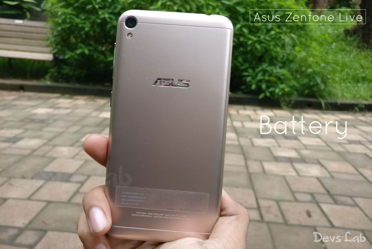 Asus Zenfone Live Battery Review