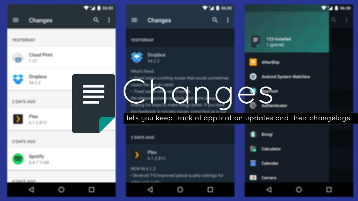 Changes Android App