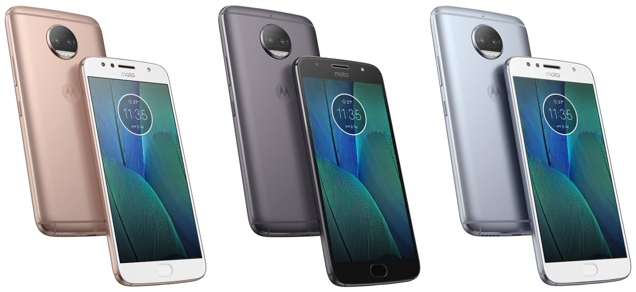 MOTO G5S Plus colours