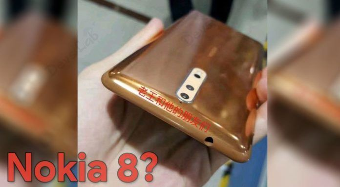 Gold-Copper variant of Nokia 8