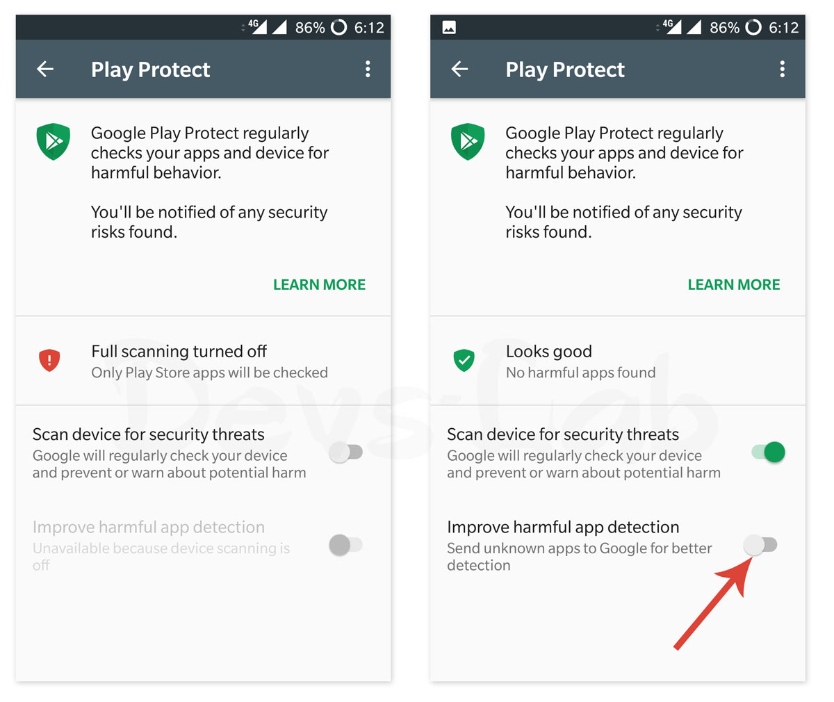 How to Google Play Protect Android device