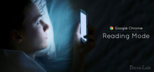 How to enable the Hidden reading mode on your chrome browser.