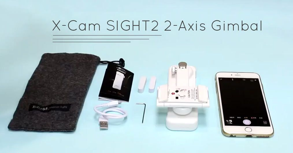 X-Cam SIGHT2 2-Axis Gimbal Box Contents