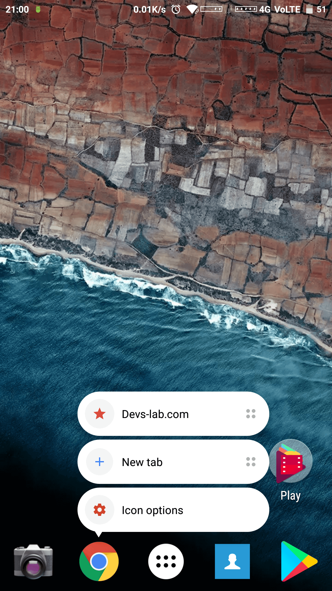 Quick shortcuts of Apps on Android device for Chrome