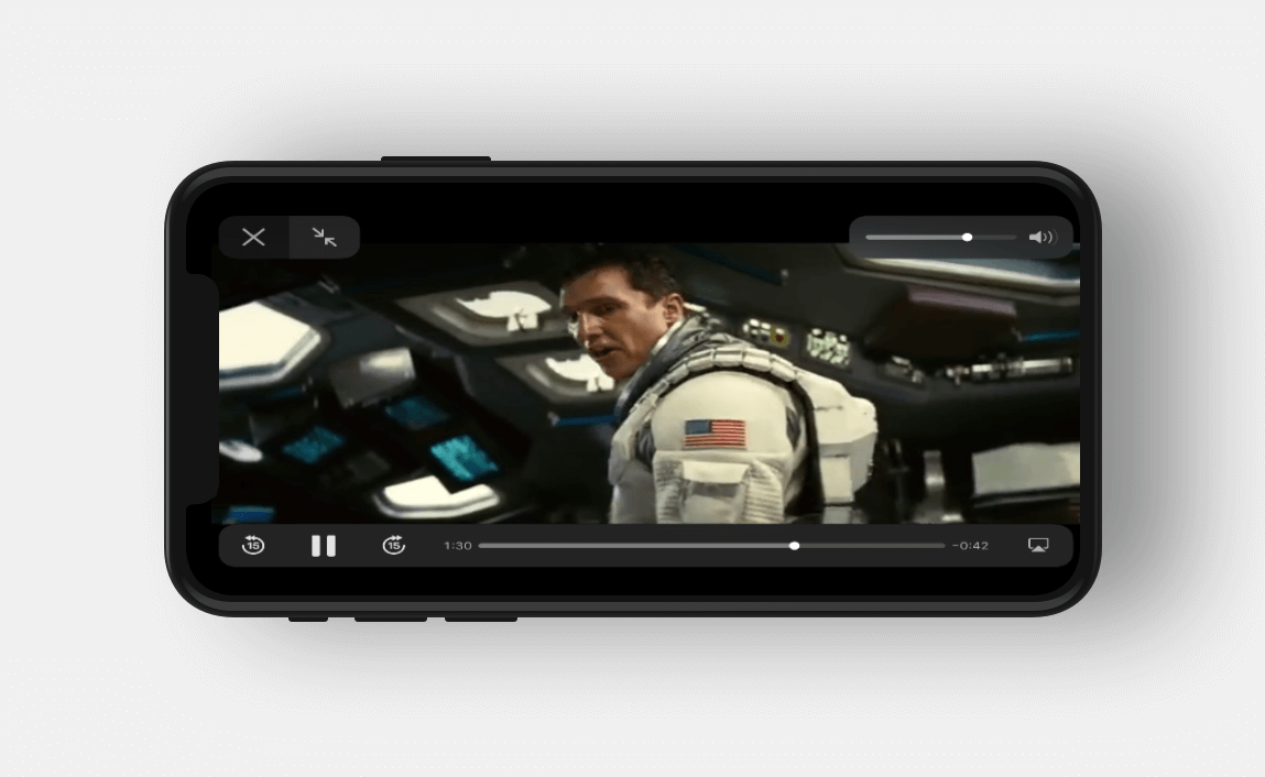 Video Play mock up iPhone 8