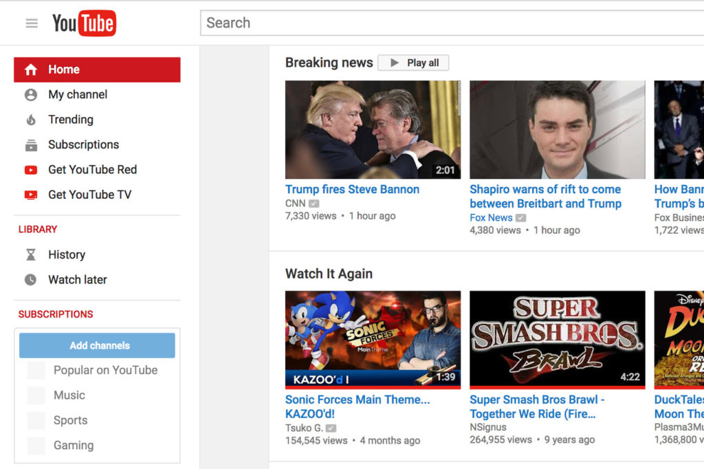 YouTube adds 'Breaking News' feature on homepage