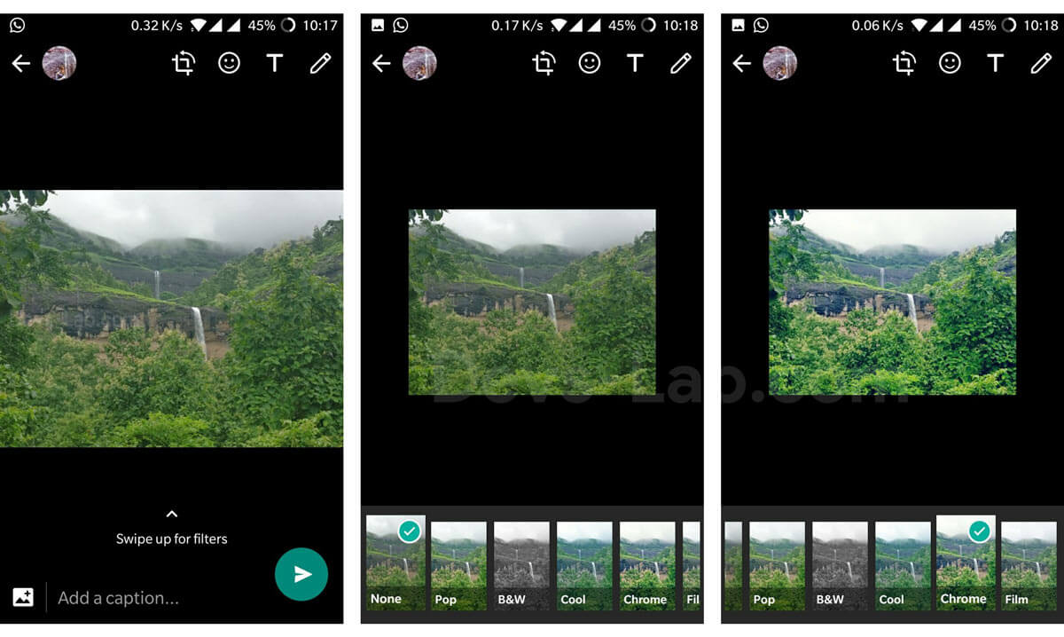WhatsApp rolling our Image Filters in beta update