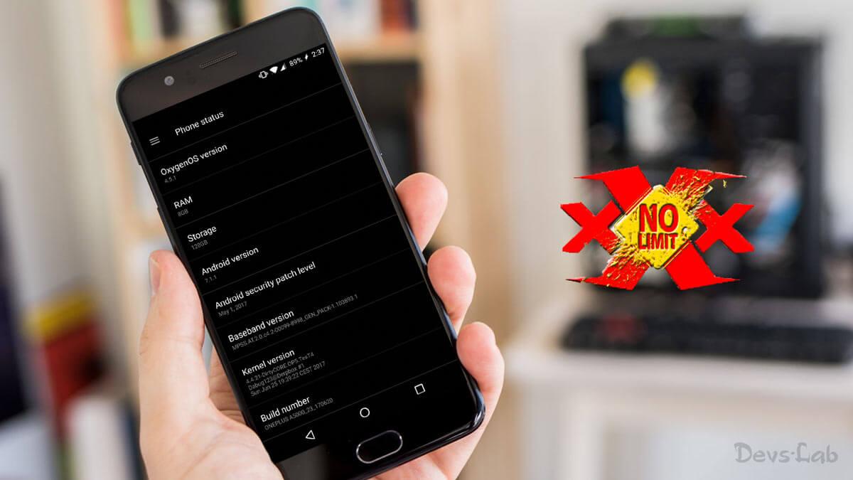 XXX No Limit ROM for OnePlus 5