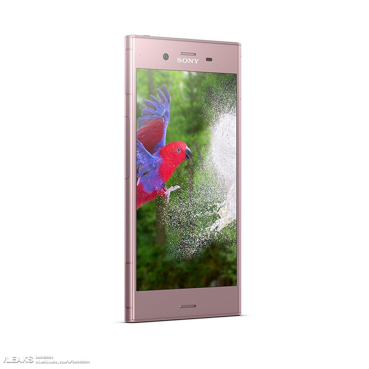 SONY Xperia Pink front quarter profile left