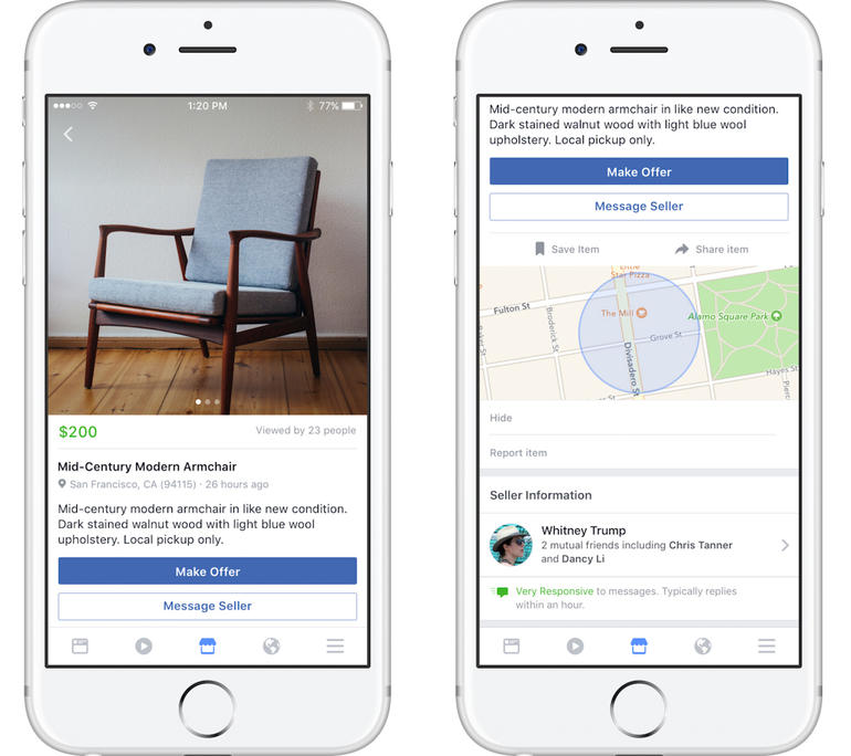Facebook's Marketplace would now display eBay's best daily deals.