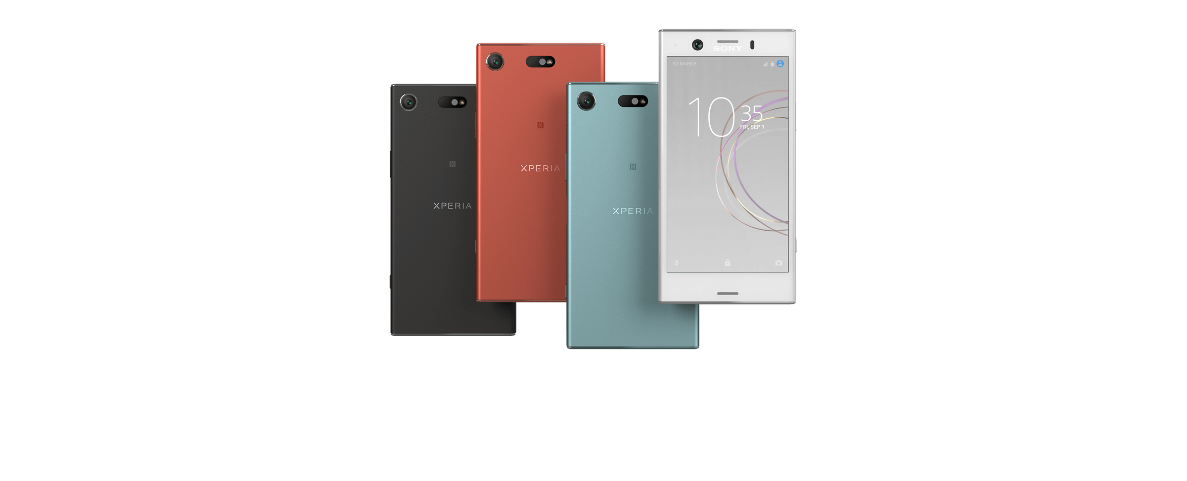 SONY Xperia XZ1 front and back