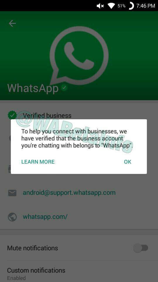 WhatsApp Business Verification