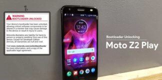 How to unlock the Bootloader on Moto Z2 Play all Gen