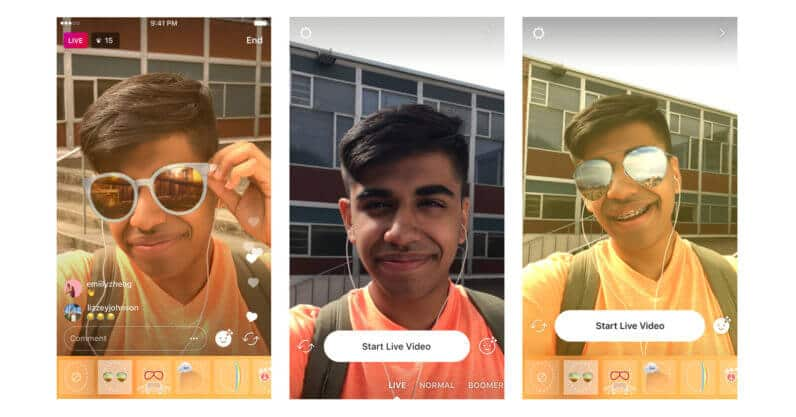 Instagram-live-video-filters