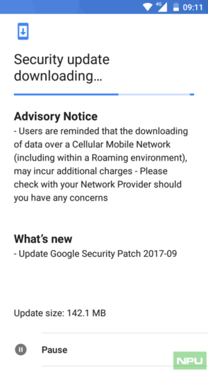 NOKIA 5 September 2017 Android Security update