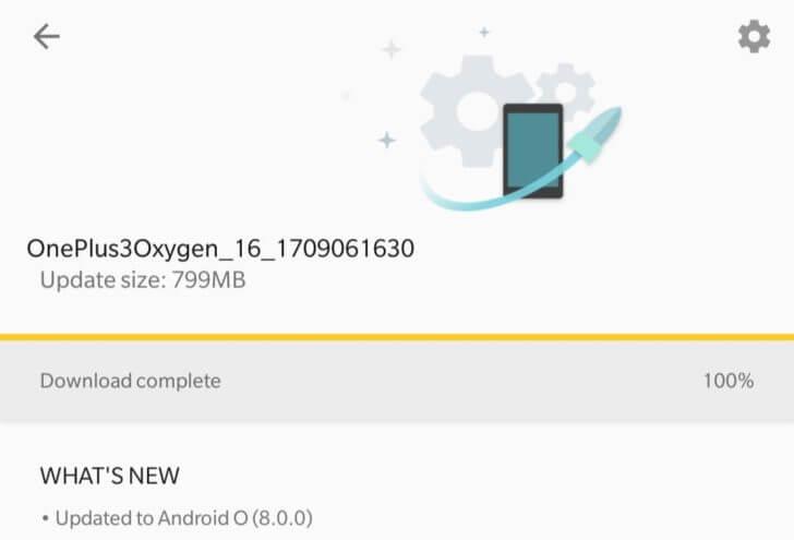 OnePlus 3 Oreo update
