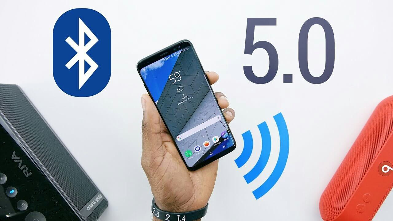 Bluetooth 5.0 was first introduced on Samsung Galaxy S8 and Galaxy S8 Plus.
