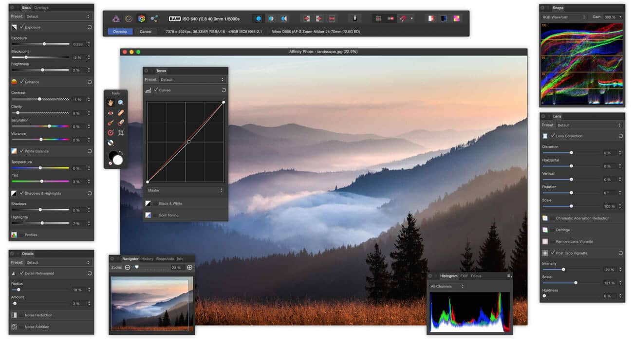 AFFINITY PHOTO Image editing Software