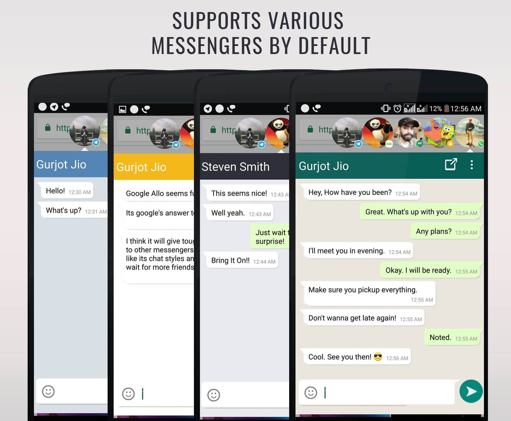 Direct Chat creates Chat head for any Android Messenger App