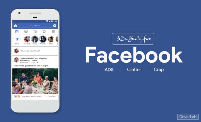 Download modded Facebook and Messenger App to hide all Ads and clutter.
