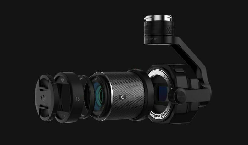 DJI Zenmuse X7 is drone camera that can record 6K RAW video; designed with filmmaking in mind