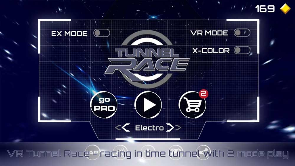 VR Tunnel Race Mode Android VR Games