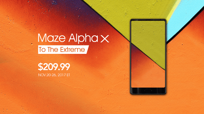 "Maze Alpha X with 6"" display, 3600mAh of battery and 6GB of RAM went on a limited presale for only $209.99"