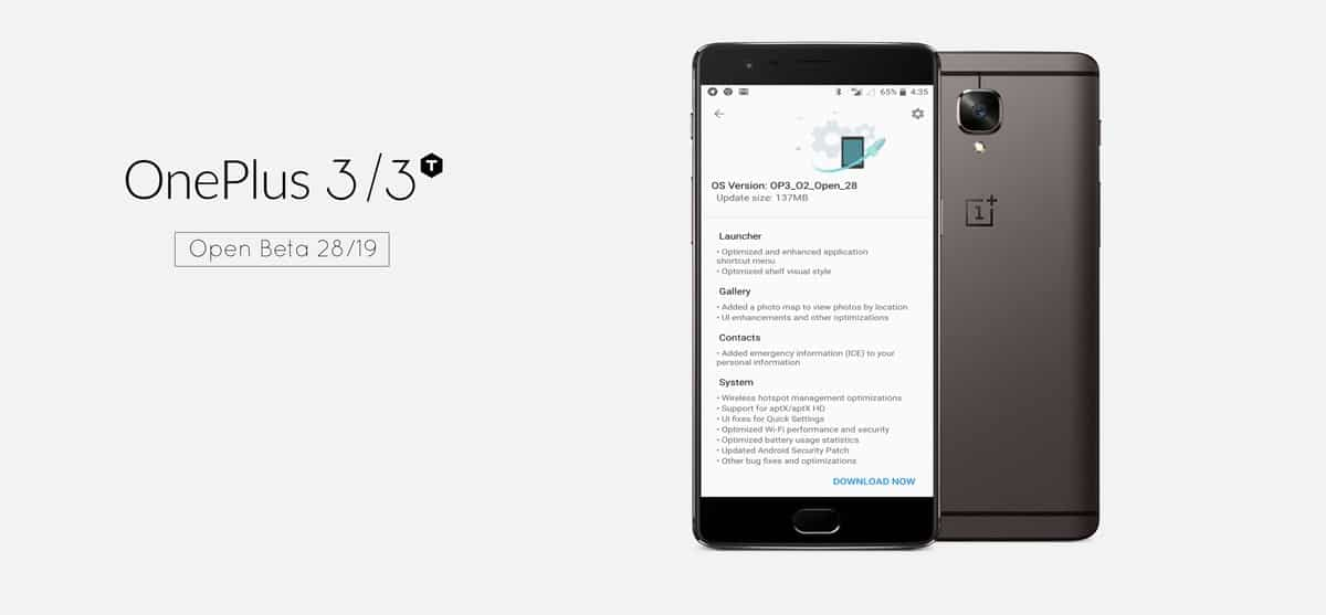OnePlus 3 and 3T Official Open Beta 29 19 Update rolling out