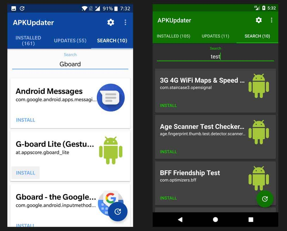 APKUpdater allows users to update & download apps without the Google