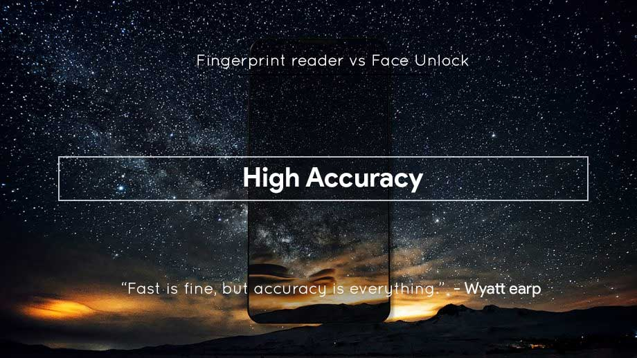High accuracy of Finerprint and Face unlock
