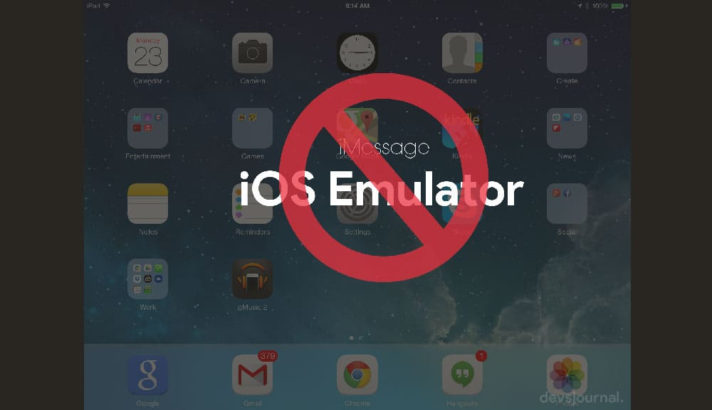 Use iOS Emulator for iMessage on Windows PC