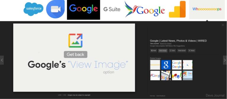 "How to Bring Back the ""View Image"" Option in Google Image Search."