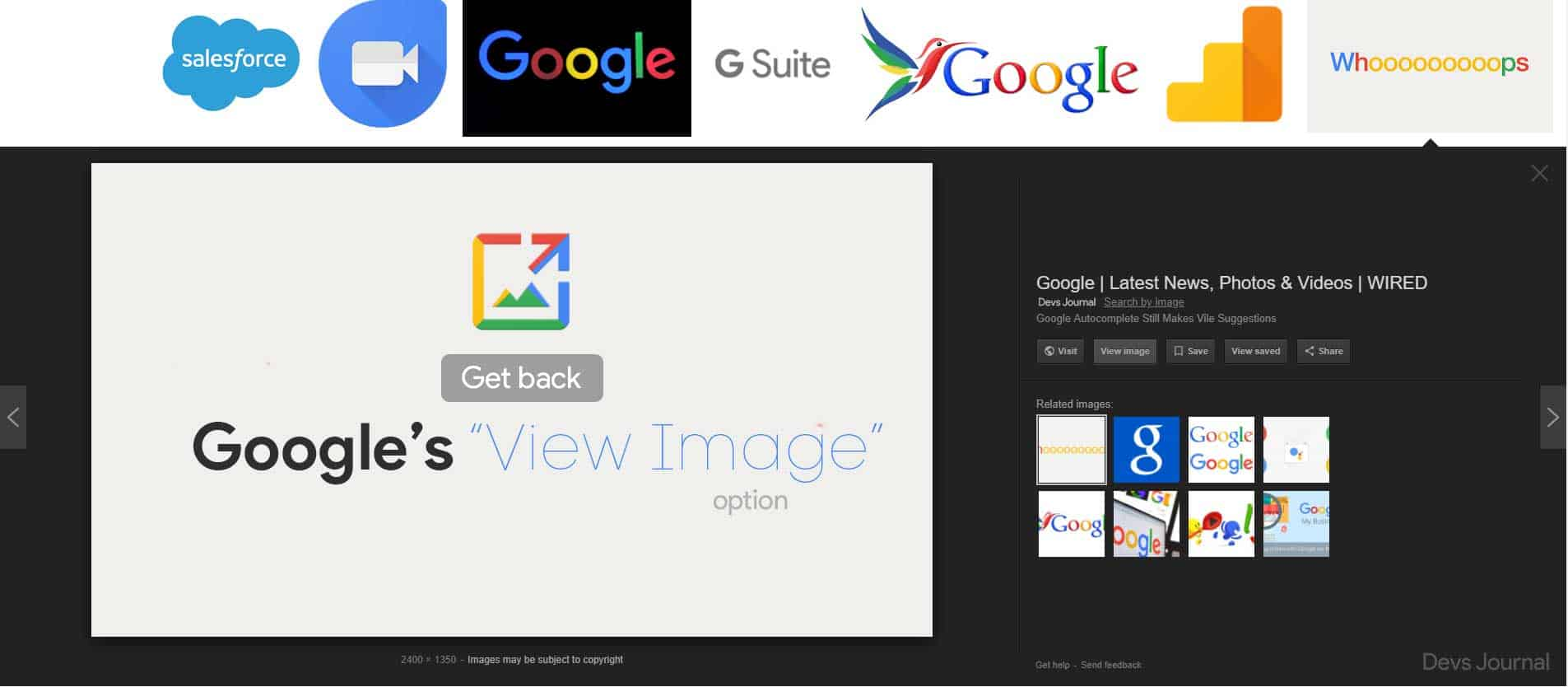 How To Bring Back The View Image Option In Google Image