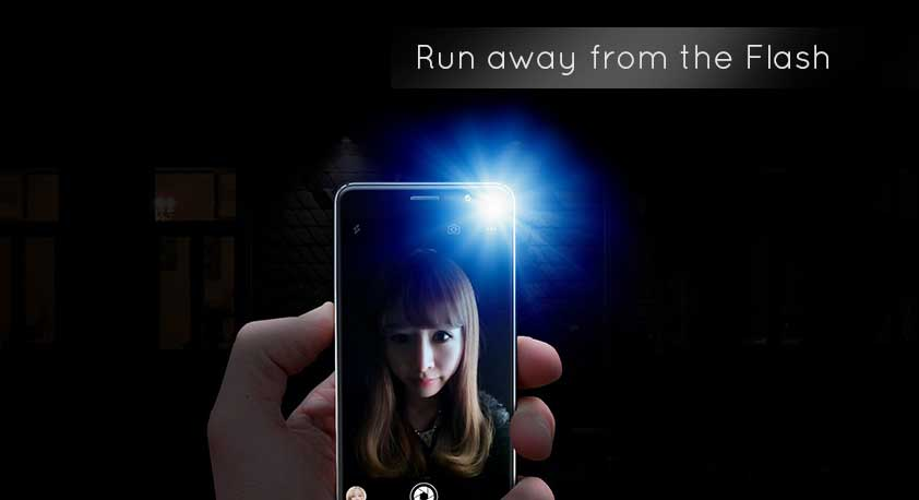 Run away from Flashlight while capturing images on your Smartphone