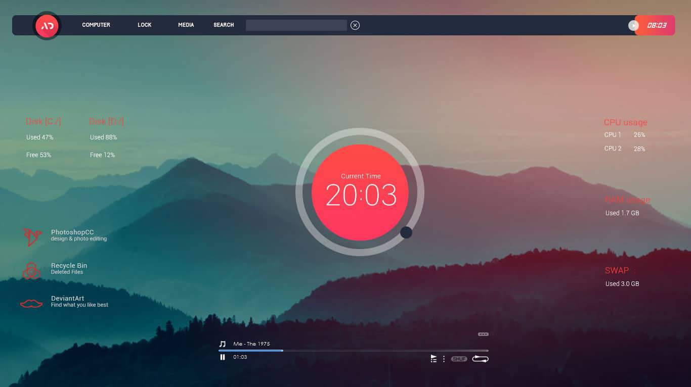 Senja Suite Rainmeter themes