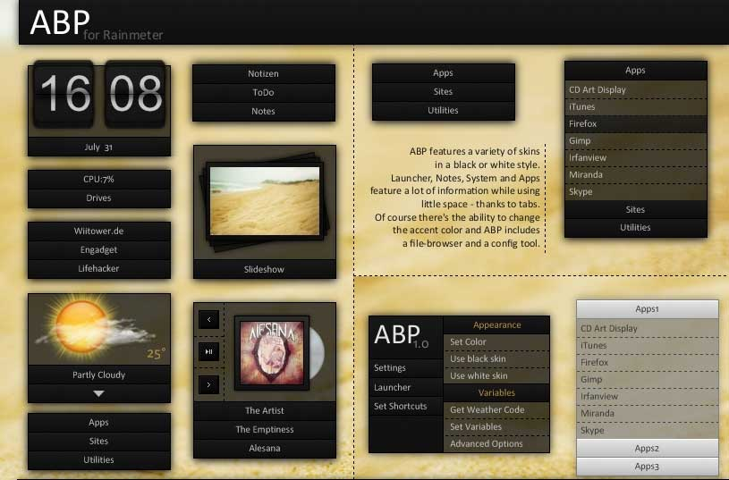 ABP Rainmeter Skin Download