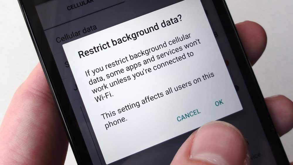 Restrict Background Data Services- Smartphone hacks