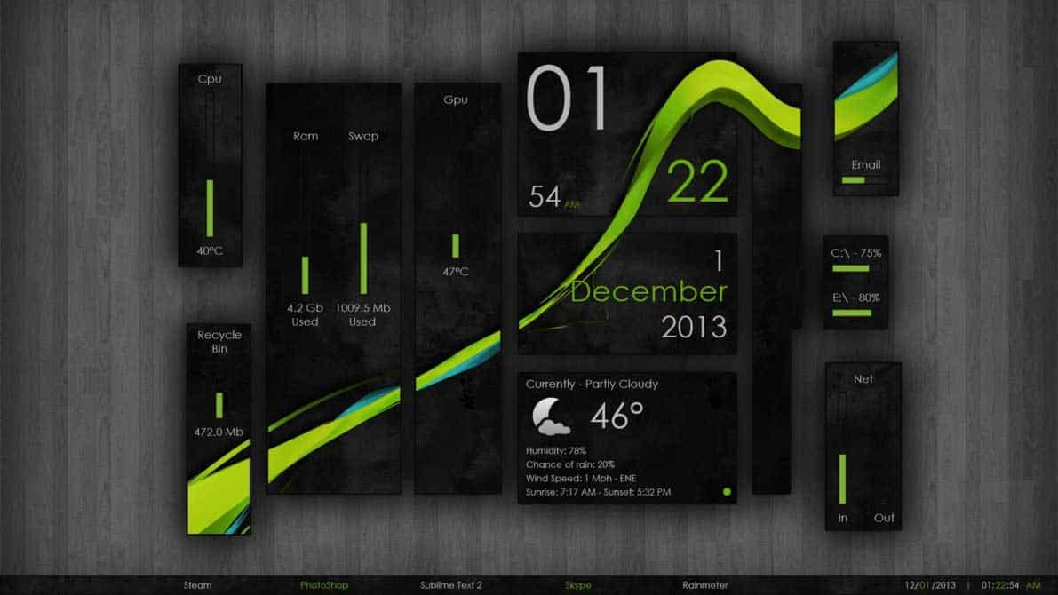 Wisp Elegant rainmeter theme download