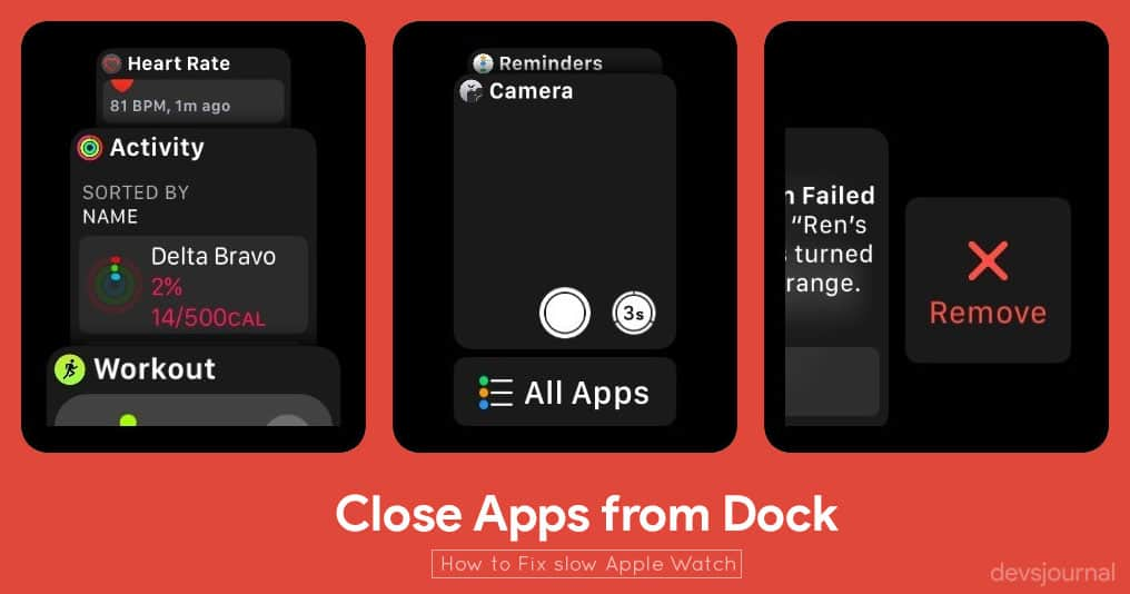 How to speed up your slow responding Apple watch  - DevsJournal