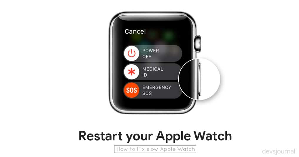 How to restart Apple watch Series 2 3 4 to fix responsiveness