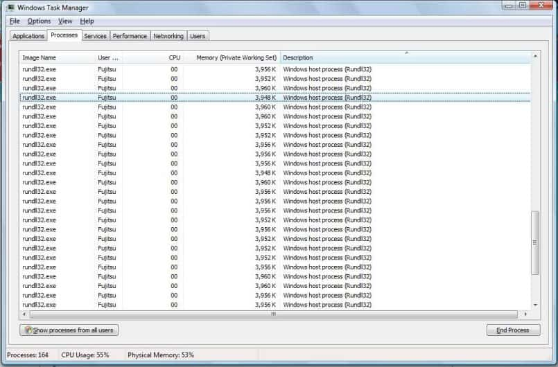 Multiple instances of rundll32.exe file in Windows