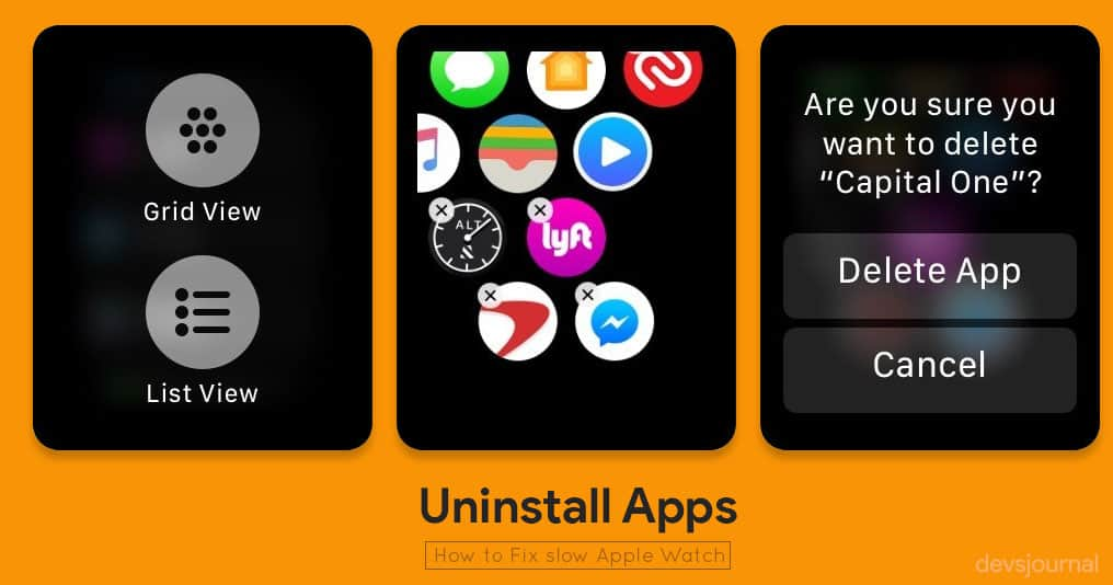 Uninstall Apps From Apple watch to speed up