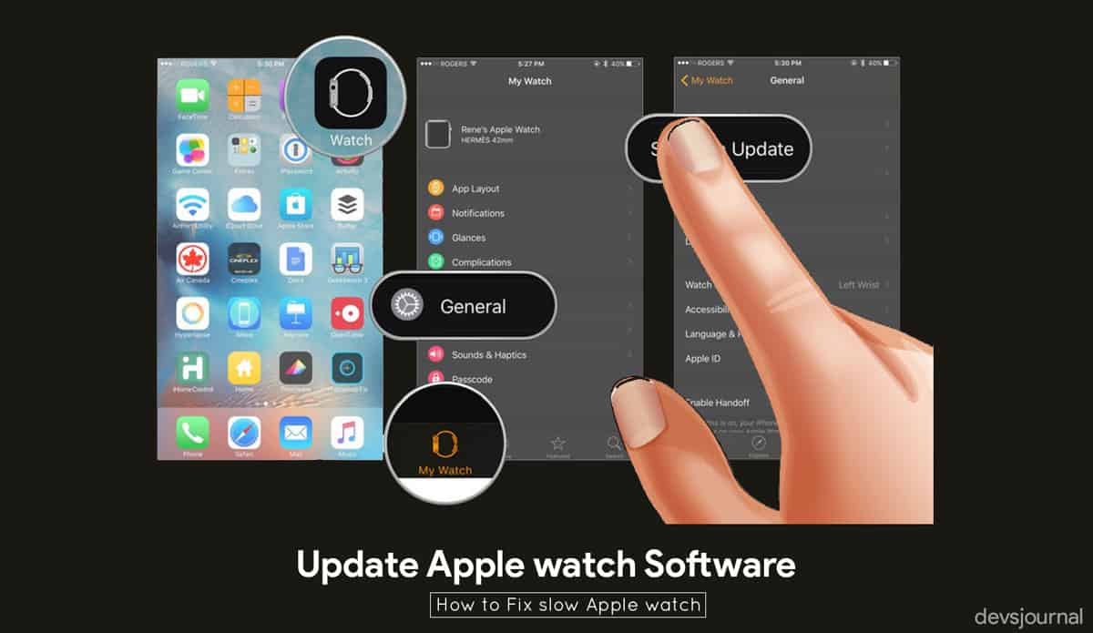 Update Apple watch Software