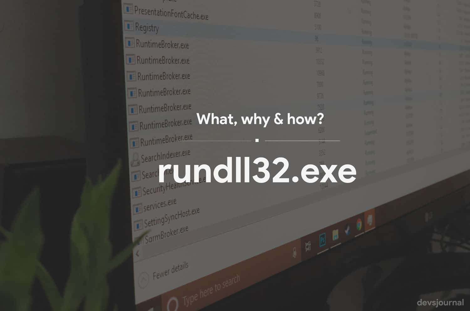 What is rundll32.exe and its use in Windows system if its a virus