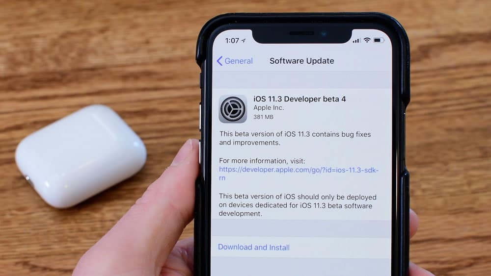 Always keep your iOS device updated to prevent malware