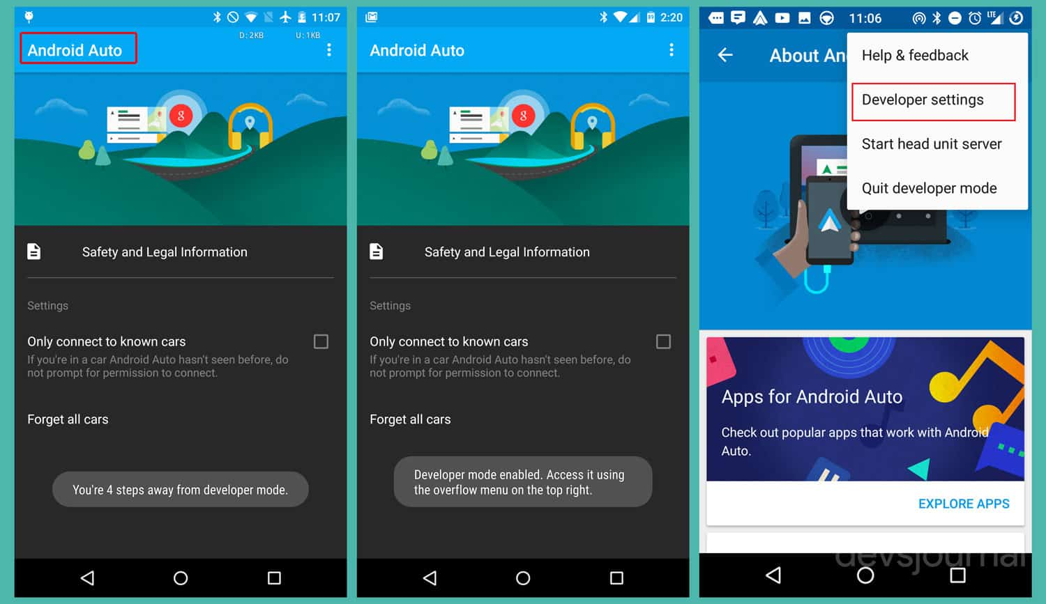 How to enable Developer Settings in Android Auto to use YouTube