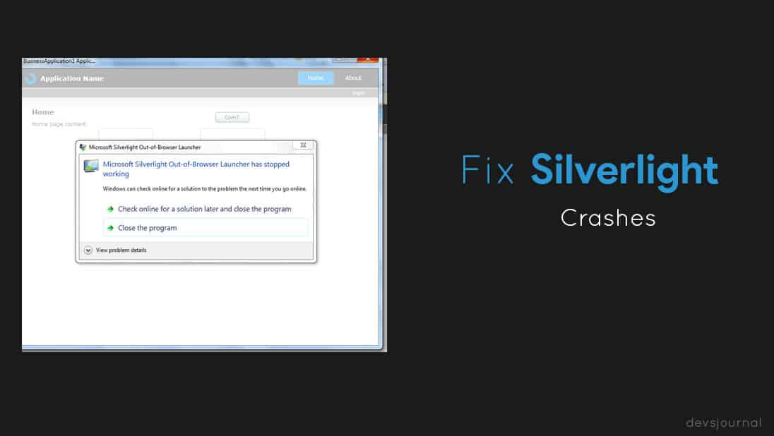 How to fix Microsoft Silverlight Crashes or has stopped working