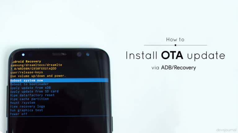 How to (Sideload) Apply Update From ADB and Stock/TWRP Recovery